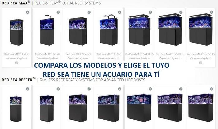 Compara los modelos y elige el tuyo, Red Sea tiene un acuario para ti